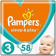 Духи, Парфюмерия, косметика Подгузники Sleep & Play Размер 3 (Midi) 6-10 кг, Эконом 58шт - Pampers