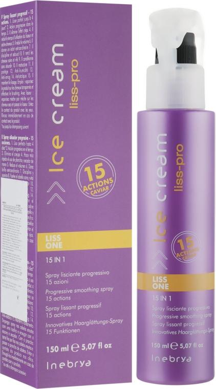 Разглаживающий спрей для волос 15в1 - Inebrya Ice Cream Liss Perfect Liss One 15in1 — фото N1