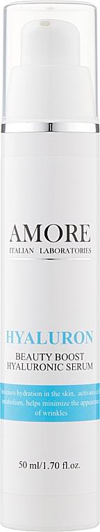 Концентрированная сыворотка с гиалуроновой кислотой для интенсивного увлажнения кожи - Amore Hyaluron Beauty Boost Hyaluronic Serum