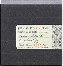 Духи, Парфюмерия, косметика Bath House Spanish Fig and Nutmeg - Мыло для бритья (сменный блок)