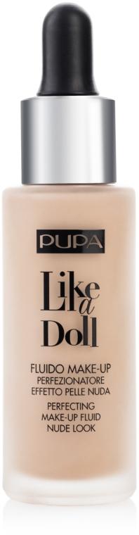 Жидкая тональная основа - Pupa Like a Doll Perfecting Make-up Fluid Nude Look