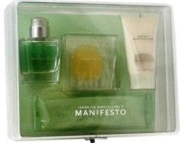 Духи, Парфюмерия, косметика Isabella Rossellini Manifesto - Набор (edt 50ml + b/l 50ml + b/tonic 50ml + мыло)