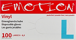 Духи, Парфюмерия, косметика Перчатки виниловые, неопудренные, прозрачные, размер L - Efalock Professional Emotion