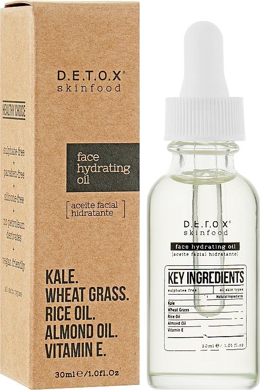 Масло для кожи с увлажняющим эффектом - D.E.T.O.X. Skinfood Face Hydrating Oil