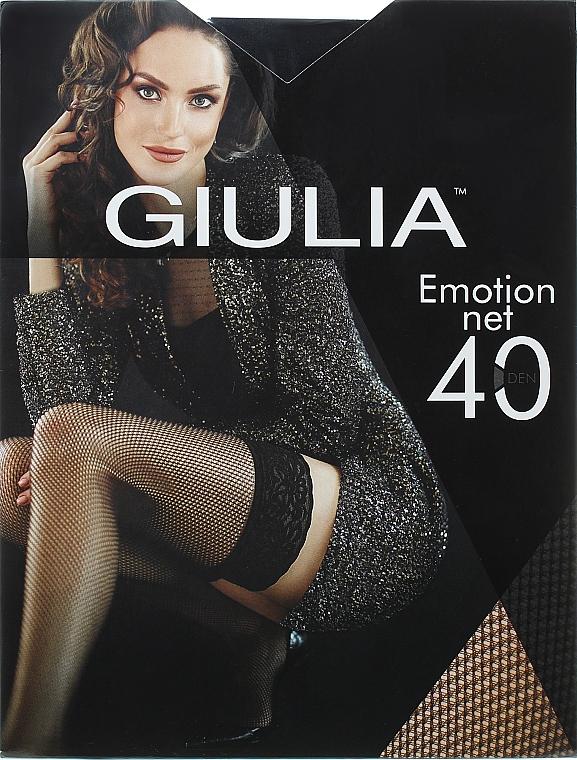 """Чулки для женщин """"Emotion Net"""" 40 Den, nero - Giulia"""