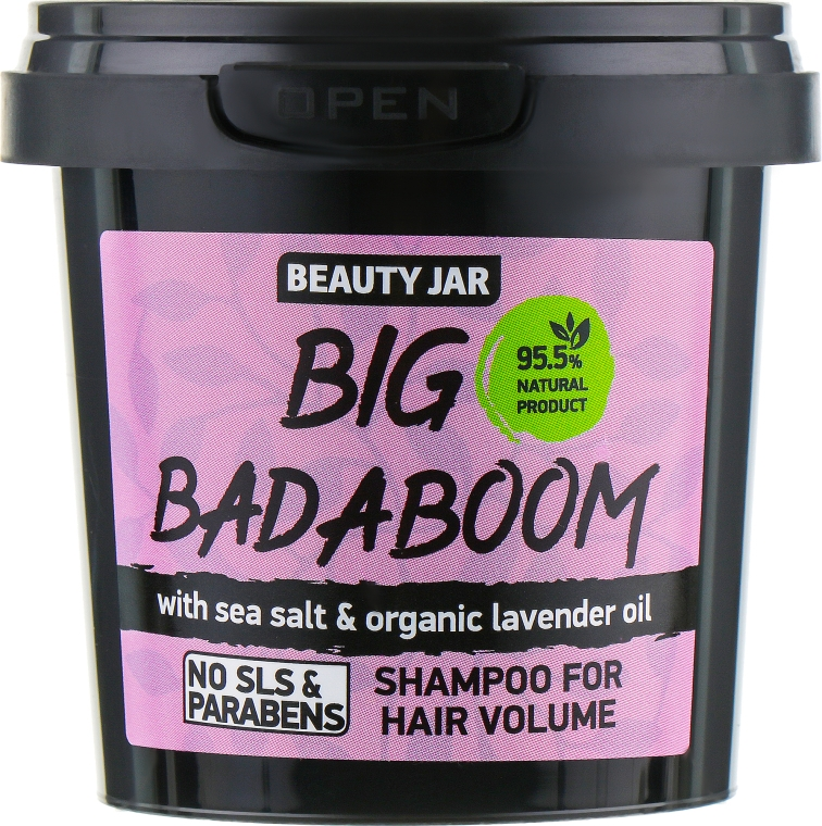 "Шампунь для объема волос ""Big Badaboom"" - Beauty Jar Shampoo For Hair Volume"