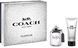 Духи, Парфюмерия, косметика Coach Platinum - Набор (edp/60ml + sh/gel/100ml)