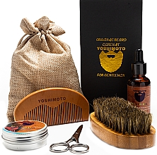 Духи, Парфюмерия, косметика Набор - Yoshimoto Gentleman's Code ST056 (comb + scissors + wax/30g + oil/30ml + comb + bag)