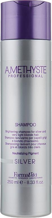 Оживлюючий шампунь для сивого і світлого волосся - Farmavita Amethyste Silver Shampoo — фото N1
