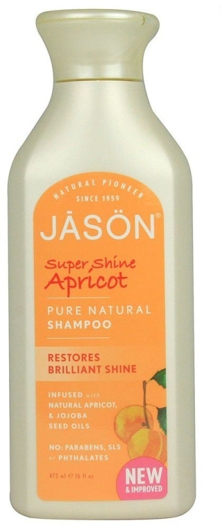"Шампунь для волос ""Супер-блеск"" - Jason Natural Cosmetics Super Shine Apricot Shampoo"