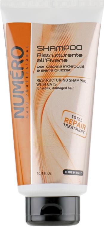 Восстанавливающий шампунь для волос с экстрактом овса - Brelil Numero Restructuring Shampoo with Oats