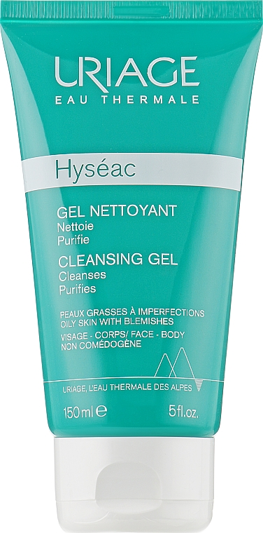 Мягкий очищающий гель Hyseac - Uriage Combination to oily skin