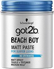 Парфумерія, косметика Паста матуюча для волосся, фіксація 3 - Got2b Beach Boy Matt Paste