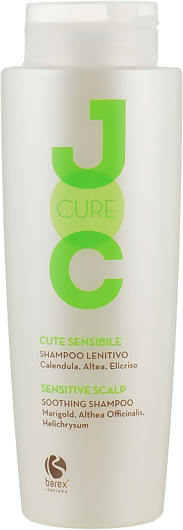 Успокаивающий шампунь с экстрактом календулы, алтея и бессмертника - Barex Italiana Joc Cure Soothing Shampoo