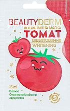 "Парфумерія, косметика Маска косметична відбілювальна ""Томат"" - Beauty Derm Whitening"