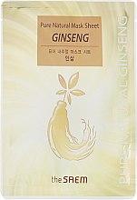 Духи, Парфюмерия, косметика Тканевая маска на основе экстракта женьшеня - The Saem Pure Natural Mask Sheet Ginseng