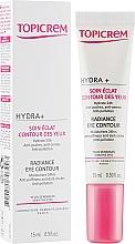 Парфумерія, косметика Крем для сяйва шкіри навколо очей - Topicrem Hydra+ Radiance Eye Contour
