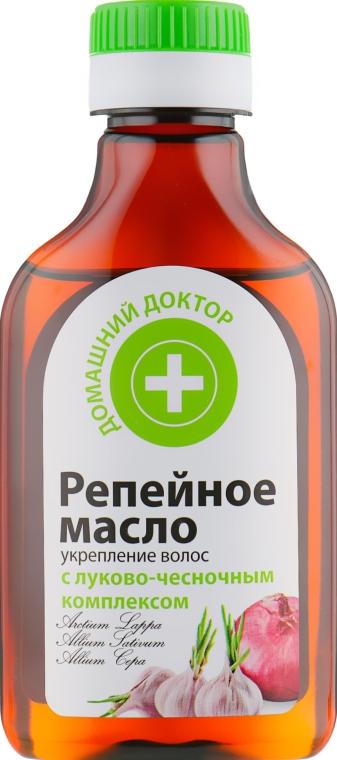 Репейное масло для укрепления волос - Домашний Доктор