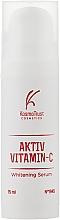 Духи, Парфюмерия, косметика Отбеливающая сыворотка - KosmoTrust Aktiv Vitamin-С Whitening Serum