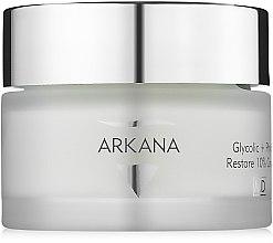 Дерматологический обновляющий крем с 8% гликолевой, 2% фитиновой кислотами и арнигином - Arkana Glycolic + Phytic Restore 10% Cream — фото N2
