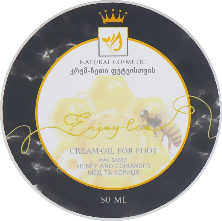 """Натуральное крем-масло для ног """"Мед, кориандр и корица"""" - Enjoy & Joy Enjoy Eco Cream-oil For Foot"""