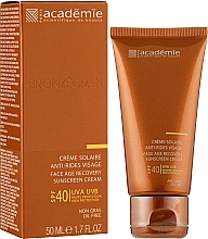 Сонцезахисний регенеруючий крем SPF 40+ - Academie Bronzecran Face Age Recovery Sunscreen Cream — фото N2