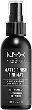 Духи, Парфюмерия, косметика Спрей-фиксатор для макияжа с матовым финишем - NYX Professional Makeup Matte Finish Long Lasting Setting Spray