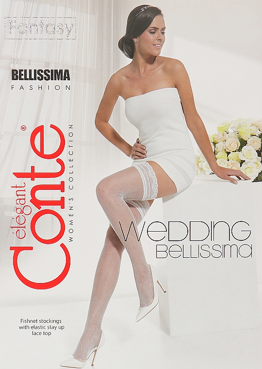 "Чулки женские ""Fantasy Bellissima"" 20 Den, bianco - Conte"