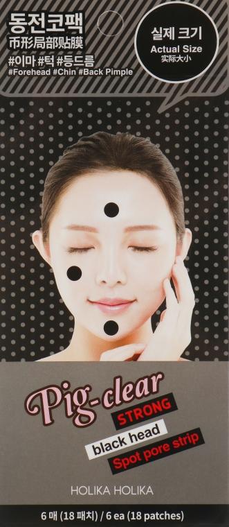 Точечные патчи для очищения пор - Holika Holika Pig Nose Clear Strong Blackhead Spot Pore Strip