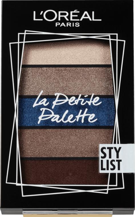 Палетка теней для век - L'Oreal Paris La Petite Palette Stylist Eyeshadow