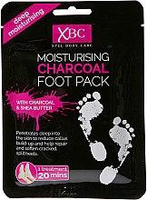 Духи, Парфюмерия, косметика Маска-носки для ног - Xpel Marketing Ltd Body Care Moisturising Charcoal Foot Pack