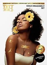 Духи, Парфюмерия, косметика Временные тату - TATTon.me Gold Dragonfly Set