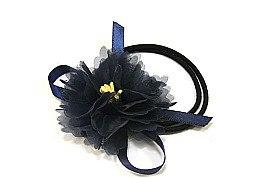 Духи, Парфюмерия, косметика Резинка для волос P0090-4, 6×8 см, темно-синяя - Akcent