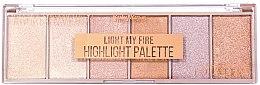 Духи, Парфюмерия, косметика Палетка хайлайтеров - Ruby Rose Light My Fire Highlight Palette