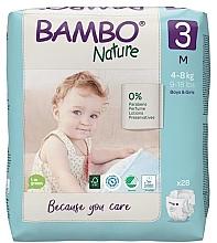 """Духи, Парфюмерия, косметика Эко-подгузники """"Nature"""", размер 3 (4-8 кг), 28 шт. - Bambo"""