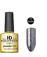 Духи, Парфюмерия, косметика Топ для гель-лака - HD Hollywood Shimmer Silver
