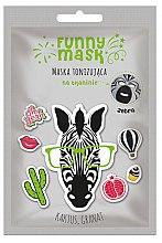 "Духи, Парфюмерия, косметика Тонизирующая маска-патч для лица ""Полосатая зебра"" - Marion Funny Mask Zebra"