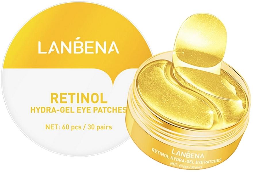 Омолаживающие гидрогелевые патчи для глаз с ретинолом и коллагеном - Lanbena Retinol Collagen Hydra-Gel Eye Patch