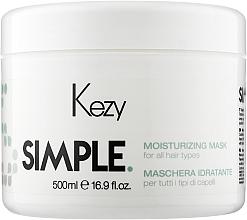 Духи, Парфюмерия, косметика Увлажняющая маска для волос - Kezy Simple Moisturizing Mask