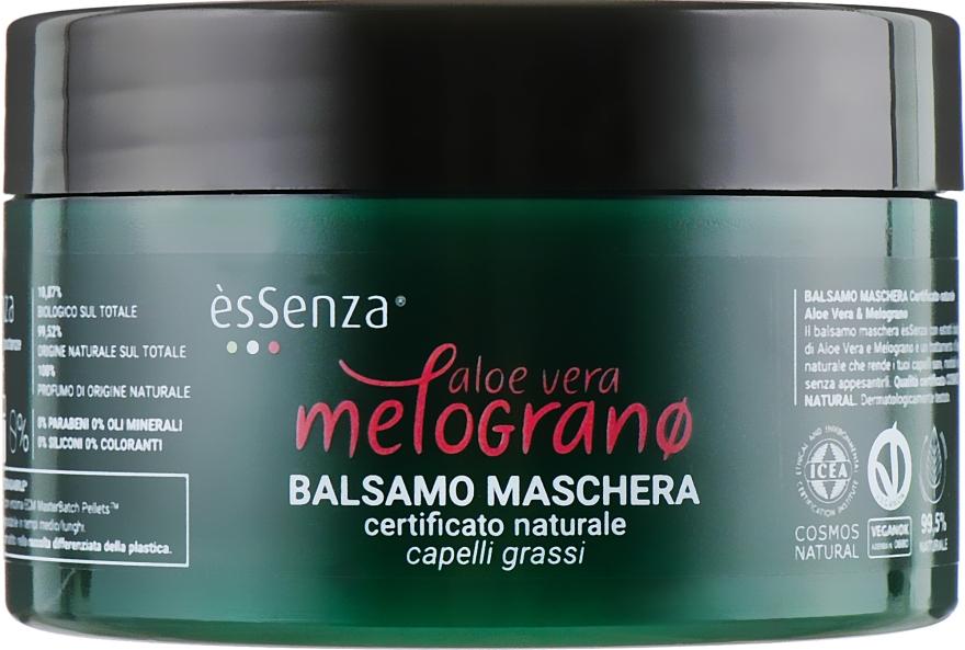 """Бальзам-маска для жирных волос """"Алоэ вера и гранат"""" - EsSenza Aloe Vera & Melograno Hair Mask"""