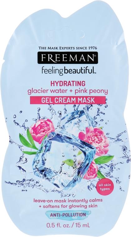"""Крем-маска гелевая """"Ледниковая вода и розовый пион"""" - Freeman Feeling Beautiful Gel Cream Mask Sashet"""