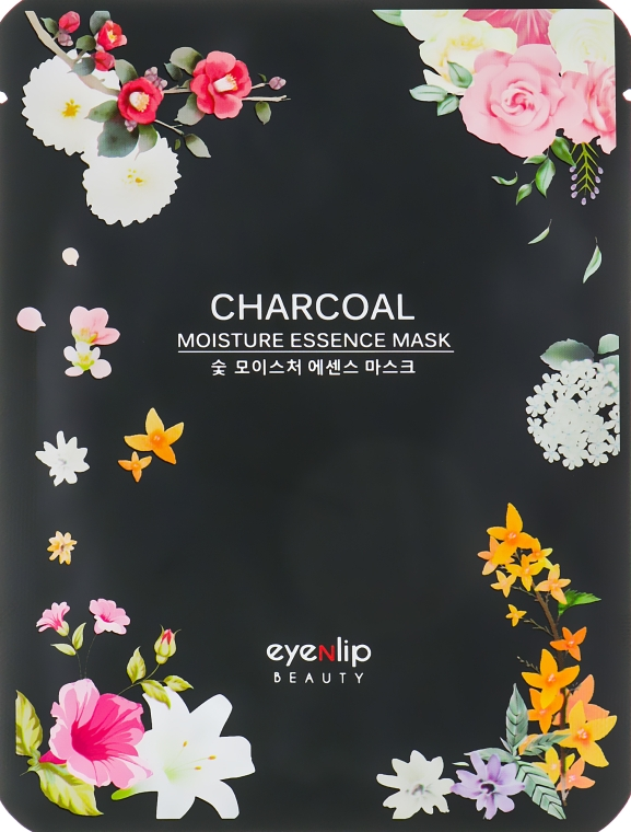 Тканевая увлажняющая маска для лица с древесным углем - Eyenlip Charcoal Moisture Essence Mask