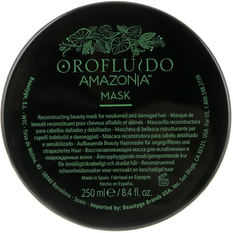 Восстанавливающая маска для волос - Orofluido Amazonia Mask