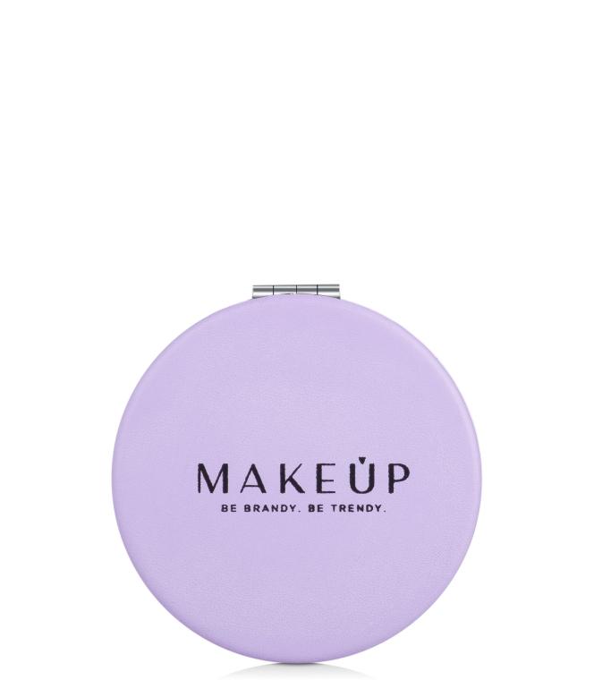 Раскладное карманное зеркало круглое, фиолетовое - Makeup