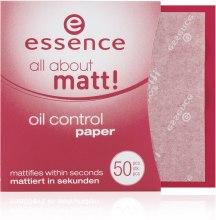 Духи, Парфюмерия, косметика Матирующая бумага - Essence All About Matt Oil Control Paper