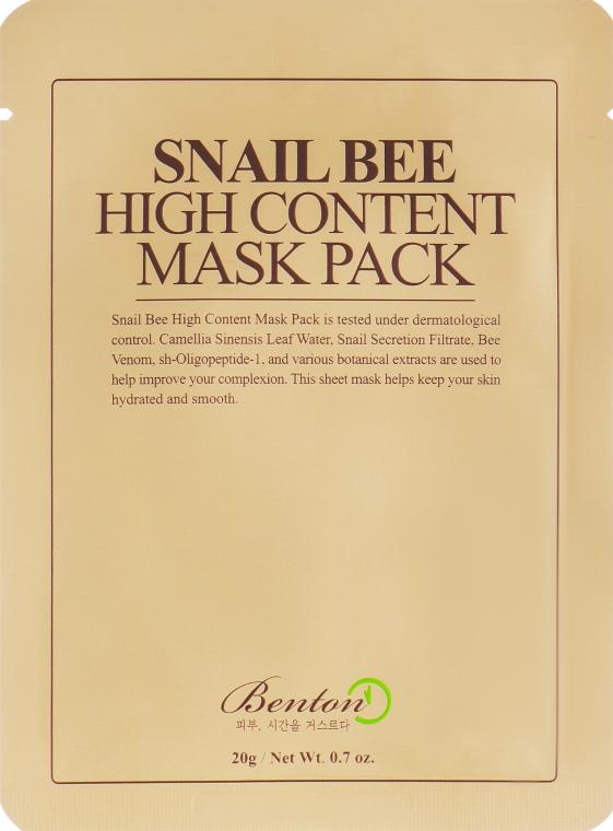Маска с высоким содержанием муцина улитки и пчелиным ядом - Benton Snail Bee High Content Mask Pack