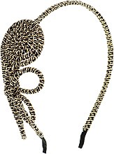 Духи, Парфюмерия, косметика Обруч-шнур для волос, черно-золотой бантик - Элита