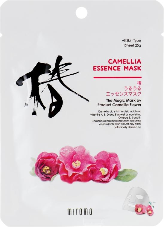 Тканевая маска для лица с камелией - Mitomo Camellia Essence Mask — фото N1
