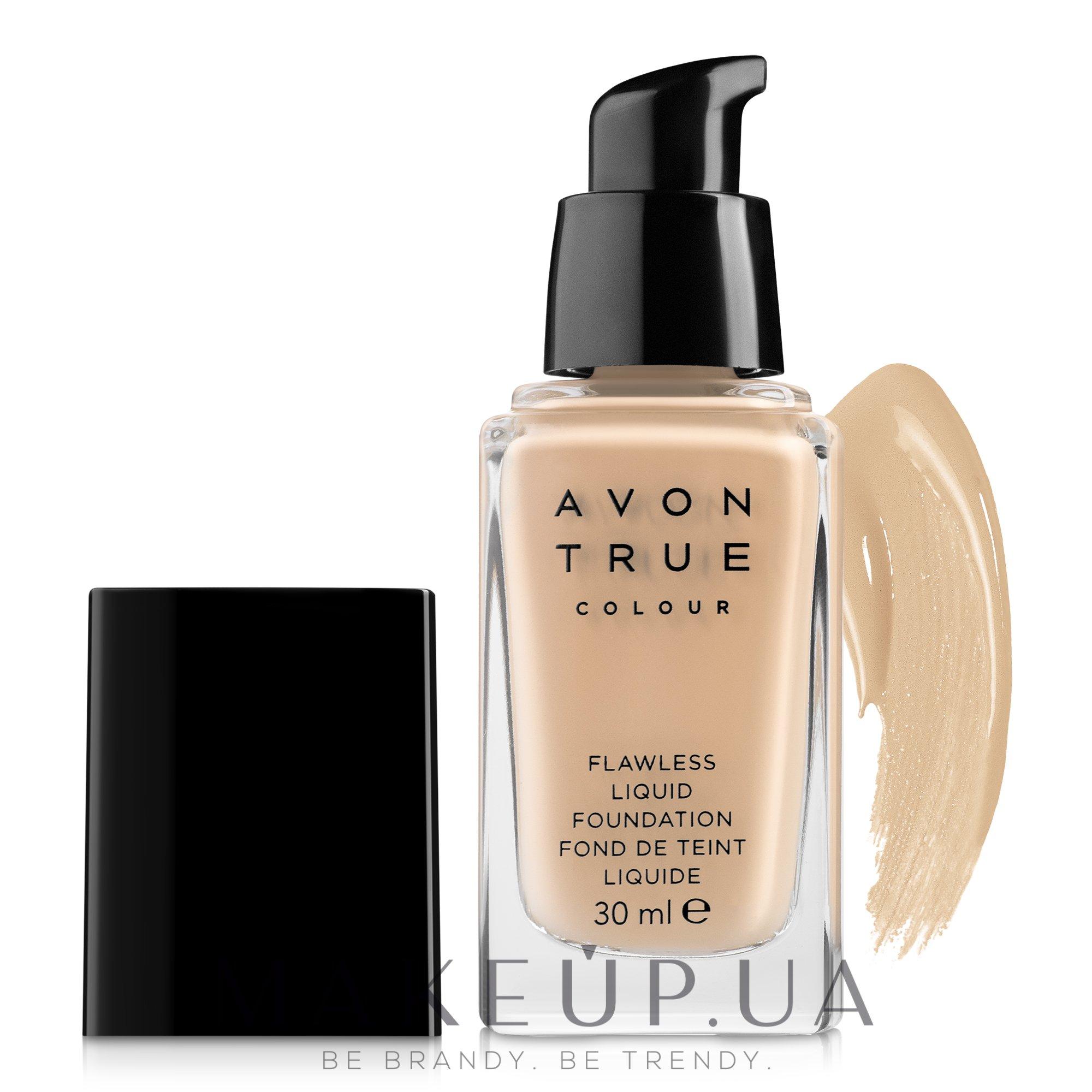 """Тональный крем для лица """"Безупречный тон"""" - Avon True Colour — фото Honey Beige"""