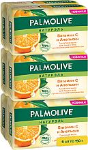 """Духи, Парфюмерия, косметика Туалетное мыло для лица и тела """"Витамин С и Апельсин"""" - Palmolive Naturel"""